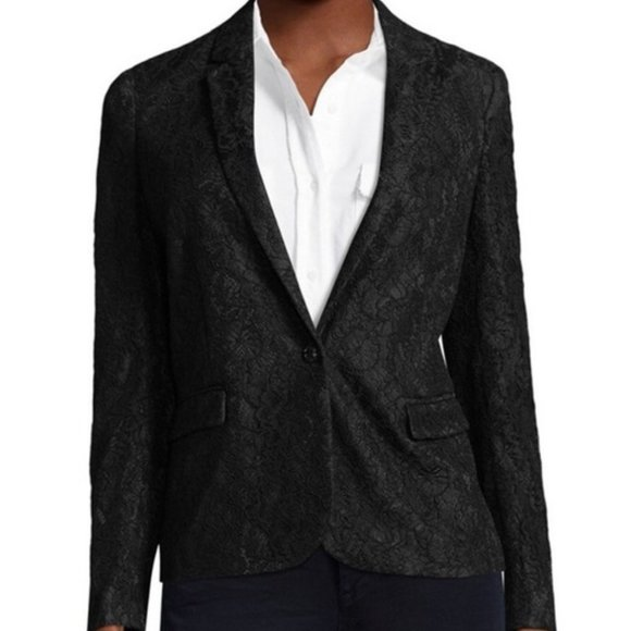 The Kooples Jackets & Blazers - ❌SOLD❌The Kooples Black Lace Blazer Jacket Work